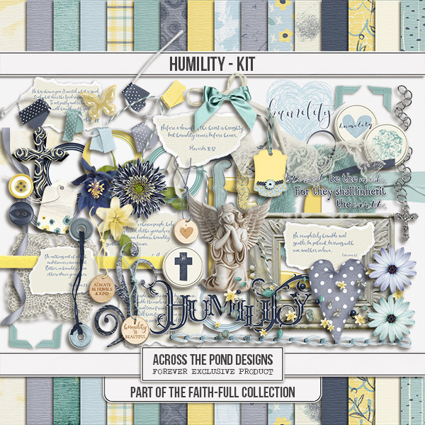 Faithfull Series - Humility - Page Kit Digital Art - Digital Scrapbooking Kits