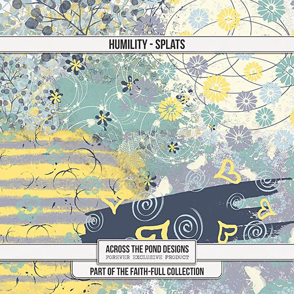 Faithfull Series - Humility - Splats Digital Art - Digital Scrapbooking Kits