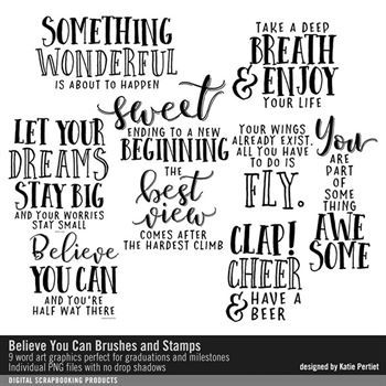 Believe You Can Brushes And Stamps