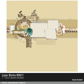Layer Works No. 671 Layered Template