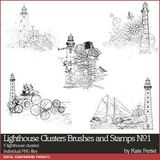 Lighthouse Clusters Brushes And Stamps No. 01