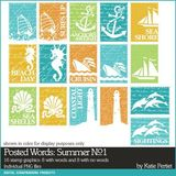 Posted Words Summer Brushes And Stamps Value Pack