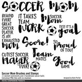 Soccer Mom Brushes And Stamps