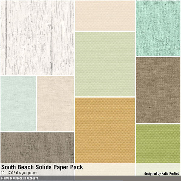 South Beach Solids Paper Pack