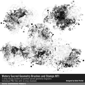 Watery Sacred Geometry Brushes And Stamps No. 01