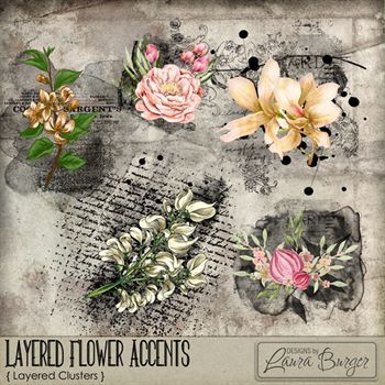 Layered Flower Accents