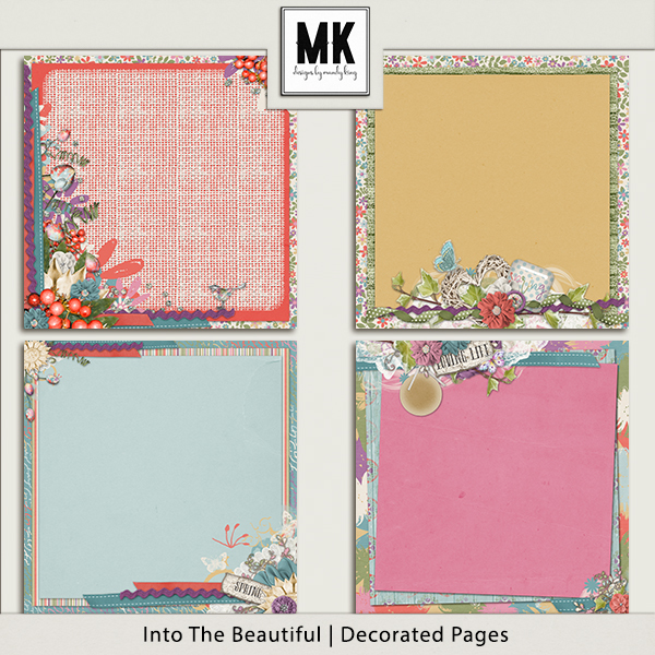 Into The Beautiful - Individual Parts - Decorated Papers