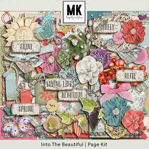 Into The Beautiful - Individual Parts - Page Kit