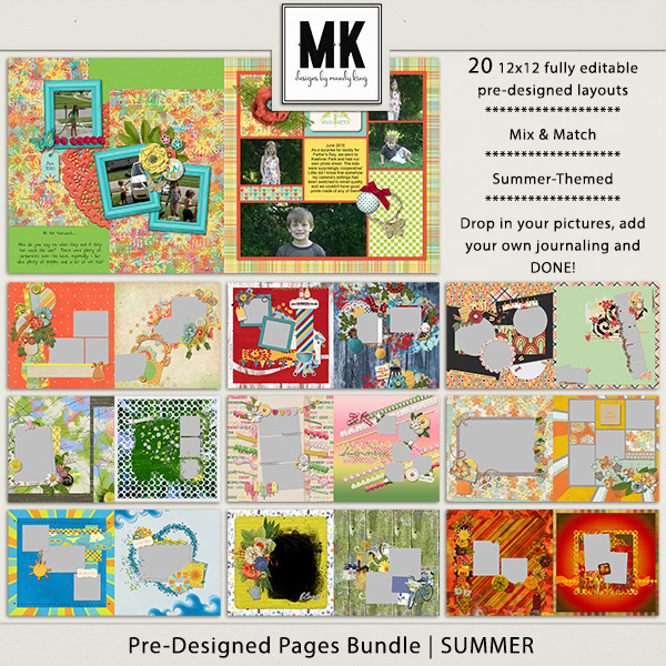 Pre-designed Pages Bundle - Summer