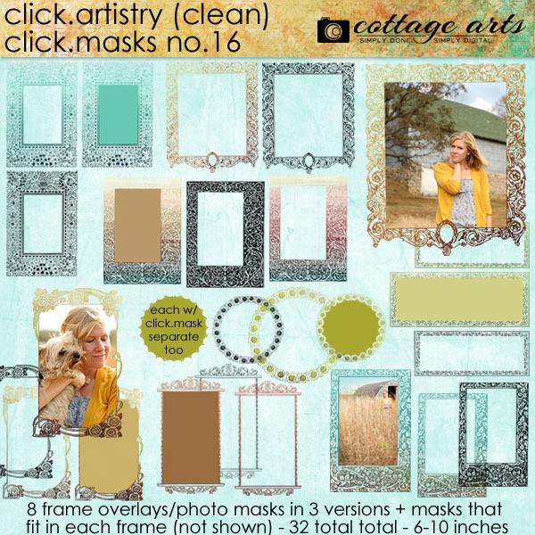 Click.Artistry Click.Masks 16 Digital Art - Digital Scrapbooking Kits