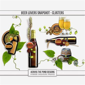 Beer Lovers Snapshot - Clusters Digital Art - Digital Scrapbooking Kits