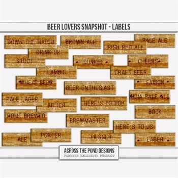 Beer Lovers Snapshot - Labels Digital Art - Digital Scrapbooking Kits
