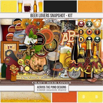 Beer Lovers Snapshot - Page Kit Digital Art - Digital Scrapbooking Kits
