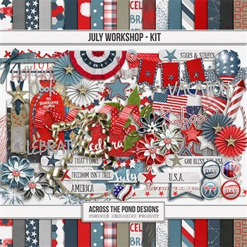 July Workshop - Page Kit Digital Art - Digital Scrapbooking Kits