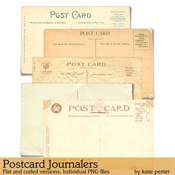 Postcard Journalers Digital Art - Digital Scrapbooking Kits