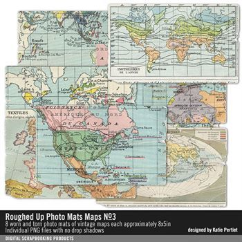 Roughed Up Photo Mats Maps No. 03