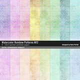 Watercolor Rainbow Patterned Paper Pack No. 02