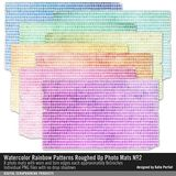 Watercolor Rainbow Patterns Roughed Up Photo Mats No. 02
