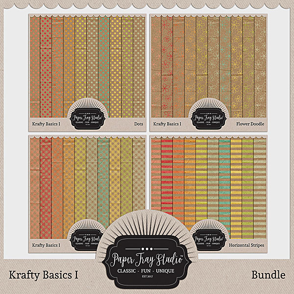 Krafty Basics I - Bundle Digital Art - Digital Scrapbooking Kits