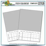 2019 12x18 Blank Calendar Template