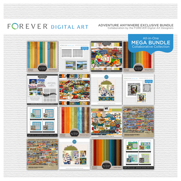 Adventure Anywhere Mega Bundle Digital Art - Digital Scrapbooking Kits