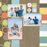 Beach Vacation 12x12 Predesigned Pages