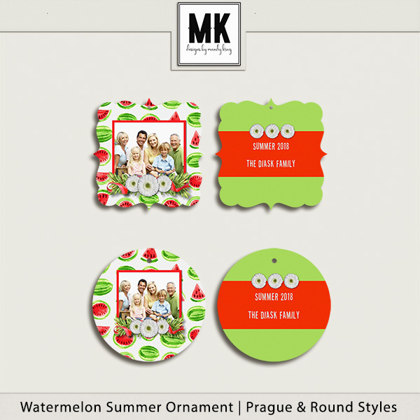 Watermelon Summer Ornaments