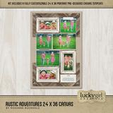 Rustic Adventures 24x36 Canvas
