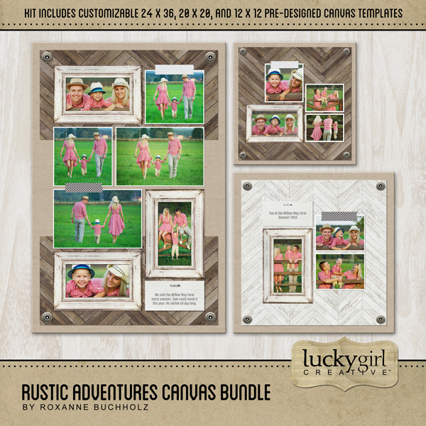 Rustic Adventures Canvas Bundle