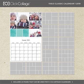 11x8.5 Classic Calendar 1 2019