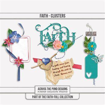 Faithfull Series - Faith Clusters Digital Art - Digital Scrapbooking Kits