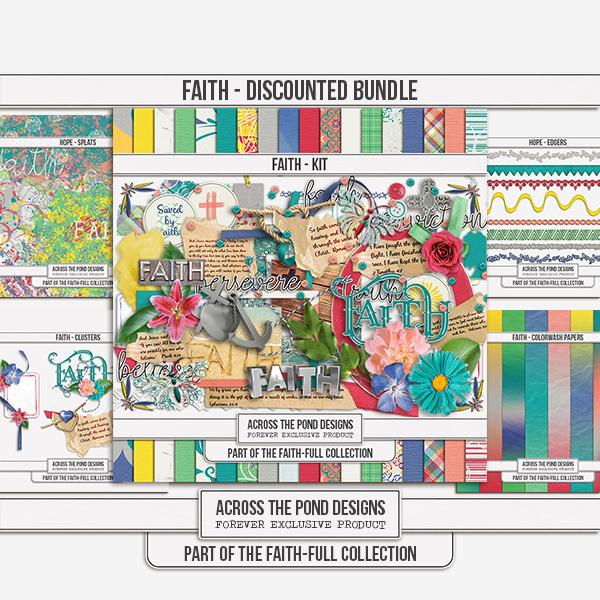 Faithfull Series - Faith Discounted Bundle Digital Art - Digital Scrapbooking Kits