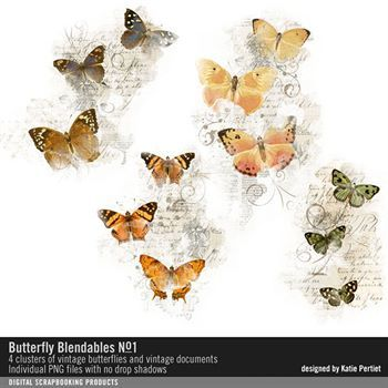 Butterfly Blendables No. 01 Digital Art - Digital Scrapbooking Kits