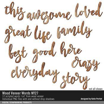 Wood Veneer Words No. 27