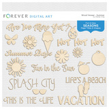 Wood Veneer Titles & Shapes - Summer