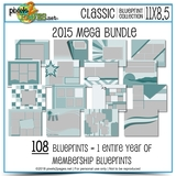 Classic Blueprint Collection 2015 - Mega Bundle (11x8.5)