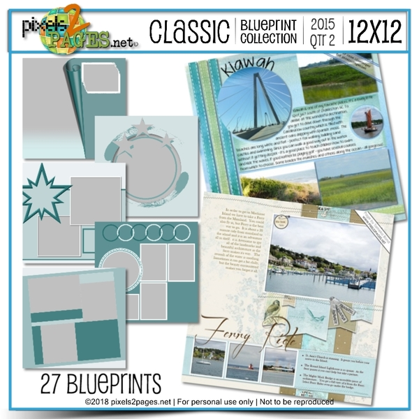 Classic Blueprint Collection 2015 - Quarter 2 (12x12)