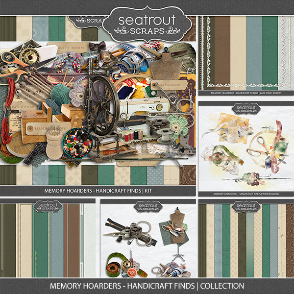 Memory Hoarders - Handicraft Finds Collection Digital Art - Digital Scrapbooking Kits