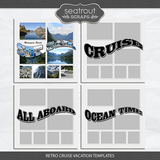 Retro Cruise Vacation Templates