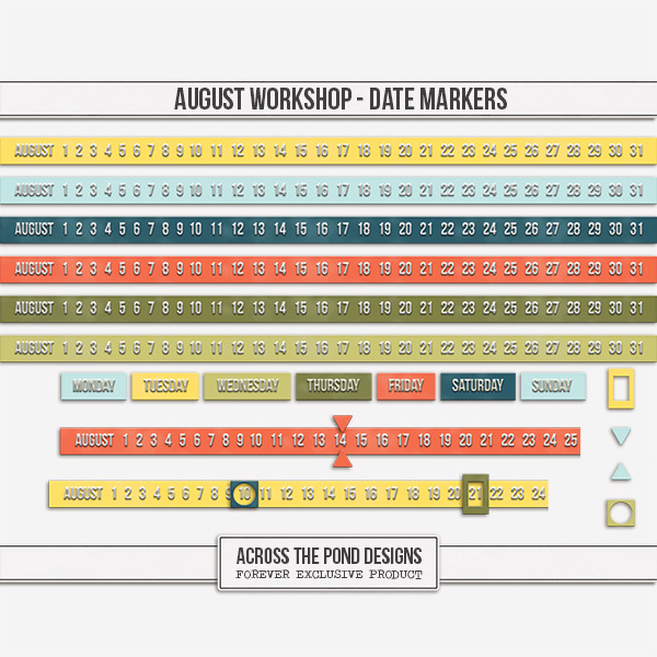 August Workshop - Date Markers
