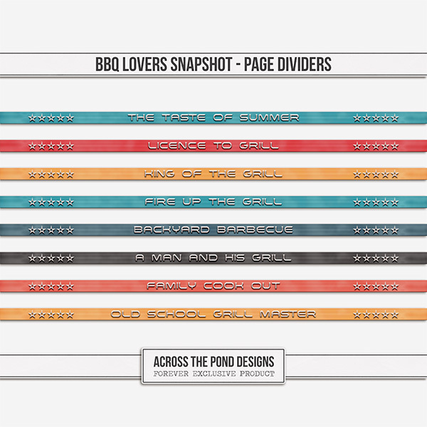 BBQ Lovers Snapshot - Page Dividers