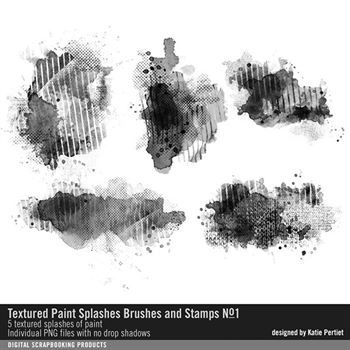Textured Paint Splashes Brushes And Stamps No. 01