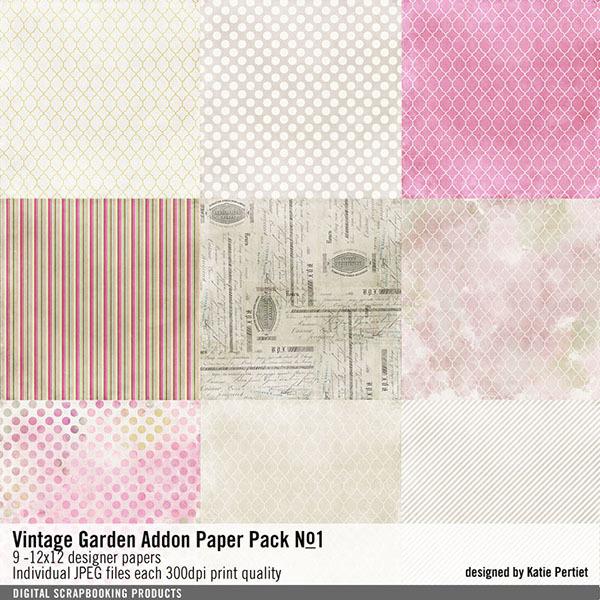 Vintage Garden Add-on Paper Pack No. 01