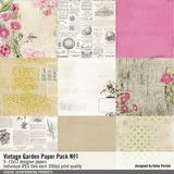 Vintage Garden Paper Pack No. 01
