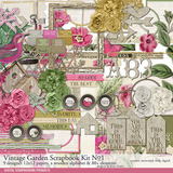 Vintage Garden Scrapbook Kit No. 01