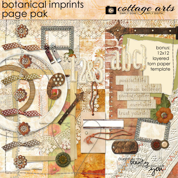 Botanical Imprints Page Pak