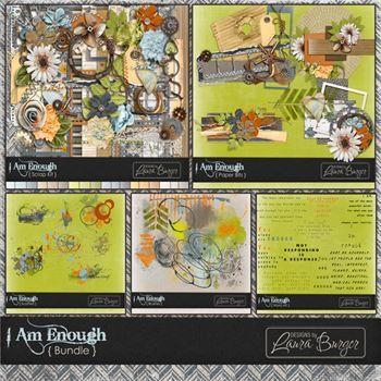 I Am Enough Bundle Digital Art - Digital Scrapbooking Kits