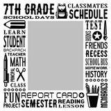 School Grades Subway Art - 7th Grade