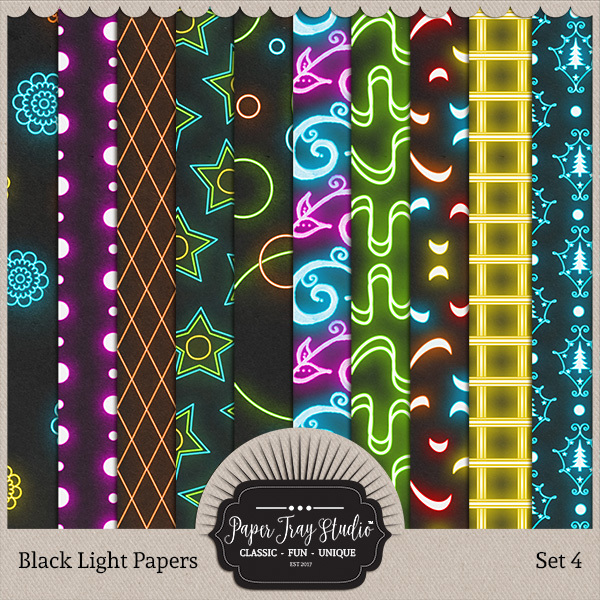Black Light Papers - Set 4