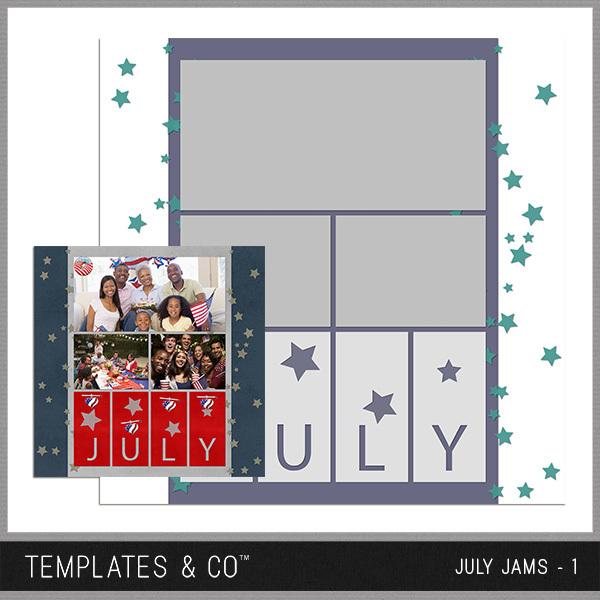July Jams 1 Digital Art - Digital Scrapbooking Kits